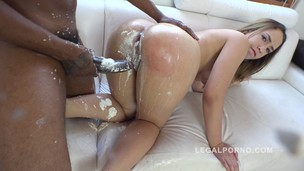 Briana Bounce kreme farting asshole (interracial double anal (DAP) with cream) RS228