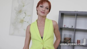 Hot Russian Milf Kessie gets 4on1. First Ball Deep DAP /GAPES /4 swallow - Hot and horny GIO216