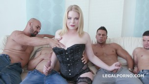 PAWG 5on1 Adry Berty welcome in PORN with DP /DAP /TP and 5 swallow GIO244