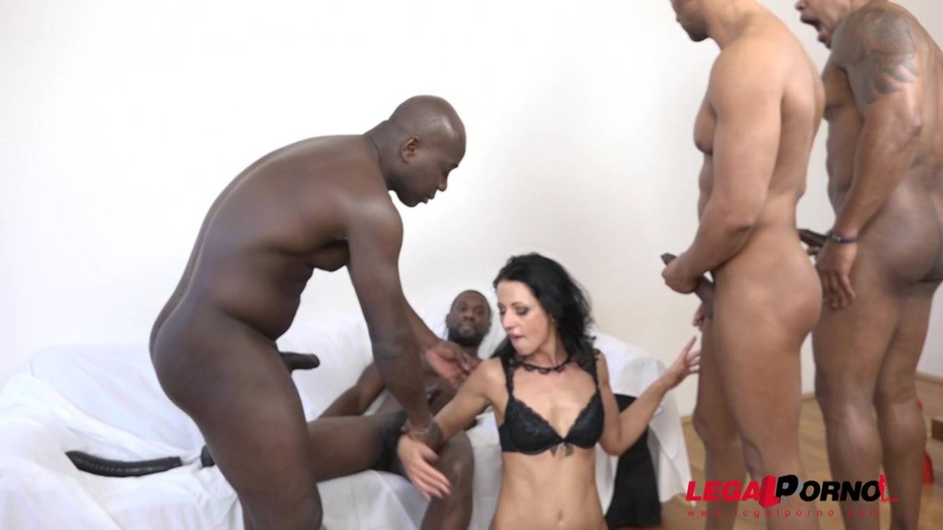 Download LegalPorno - Interracial Vision - July Sun discovers the black feeling again. Kinky 4on1 DAP and DP IV015