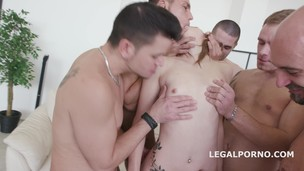 5on1 welcome in Porn Tera Link with first anal /dp /gapes /multiple facial GIO293 screenshot