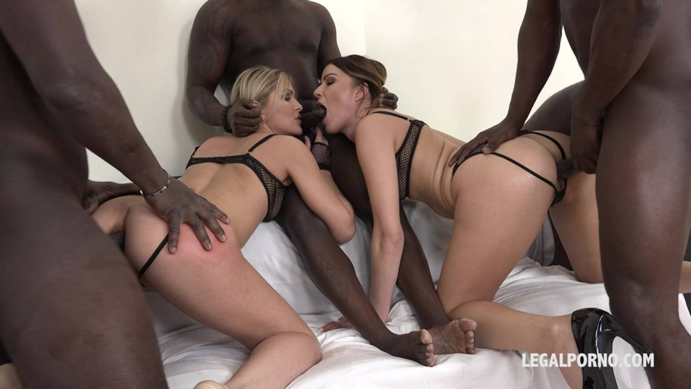 Download LegalPorno - Interracial Vision - Cristina Tess & Samantha Joons - those two bitches have real passion for big black cock IV044