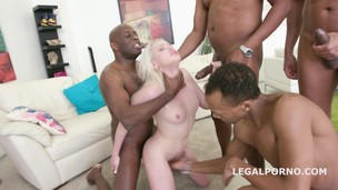 Blackbusters 4on1 Lola Taylor gets it ball deep DP /DAP /DT /Creampie /Swallow. She likes big black cocks! GIO323