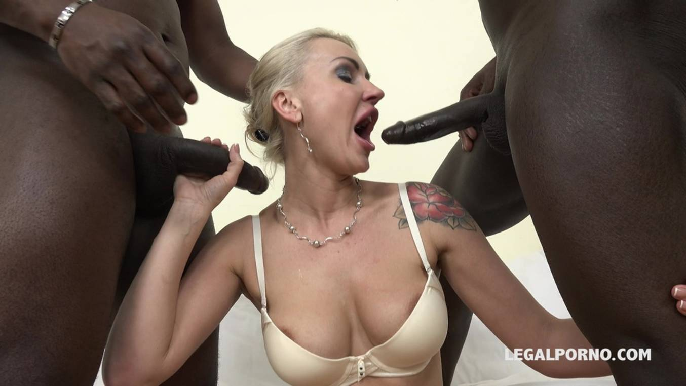 Download LegalPorno - Interracial Vision - Iskra kinky cougar discovers black feeling and enjoys two cocks in the ass IV054