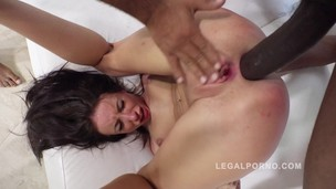 Lola Bulgari brutal 3on1 interracial anal & DP RS209