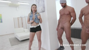 15on1 GangBang with Selvaggia Balls Deep Anal / DAP / TP / Gapes / Final DP / 17 Cumshots with messy Facial and Swallow GIO453