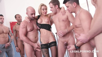 Katrin Tequila 10on1 Double Anal Gangbang / Balls Deep Anal / ATM / 10 SWALLOWs - Fuck she is so good!!! GIO541 screenshot