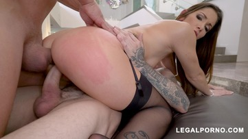 French Slut Clea Gaultier Takes Two Cocks From Chris Strokes and Ramon Nomar AB006 screenshot