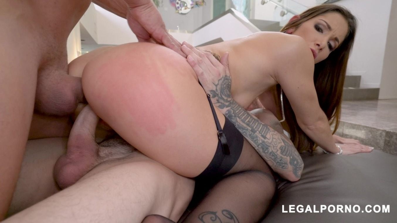 LegalPorno - Assablanca - French Slut Clea Gaultier Takes Two Cocks From Chris Strokes and Ramon Nomar AB006 by Assablanca Studio