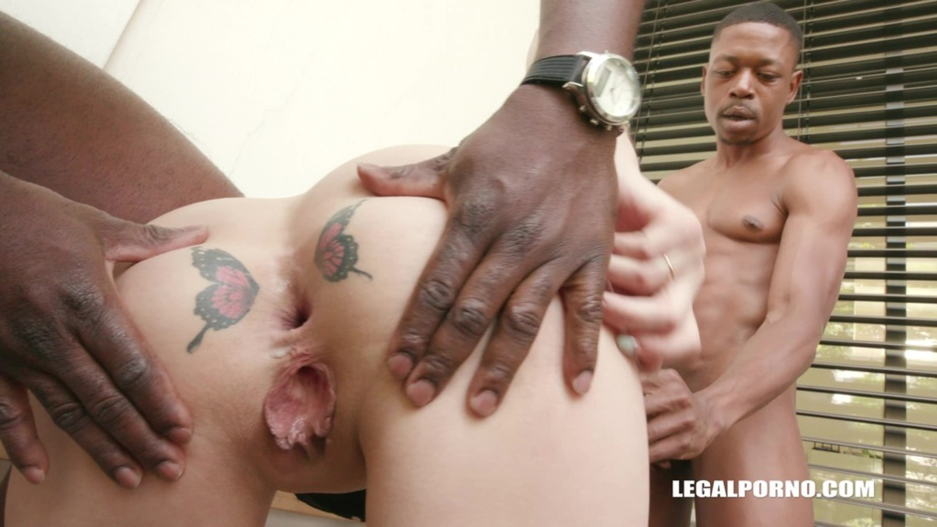LegalPorno - Interracial Vision - Dayana Ice is a butterfly angel but loves two cock in her ass IV174