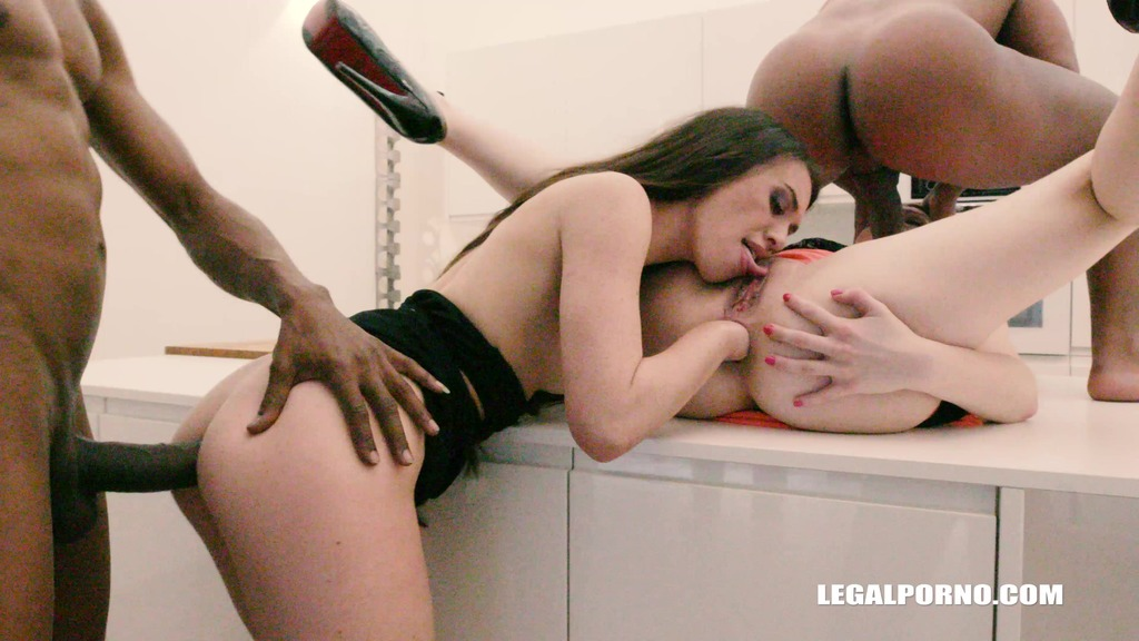 LegalPorno - Interracial Vision - Tiffany Doll & Rebecca Sharon - two anal whores enjoying double anal & pissing pay Part 1 IV180