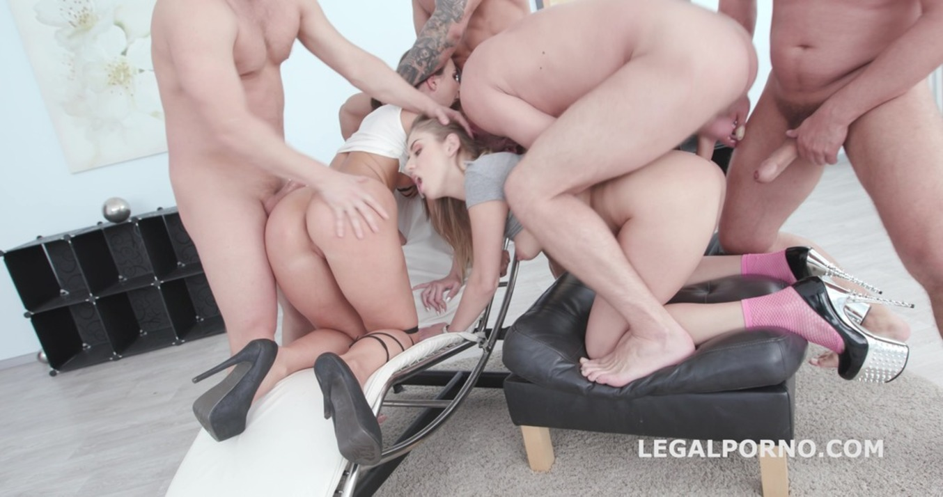 LegalPorno - Giorgio Grandi - Double addicted with Kristy Black & Julia Red balls deep anal / DAP / ATOGM GIO656