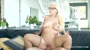 Big Titty Blonde in Glasses gets Real Hardcore Sex from a Stud GP003 screenshot