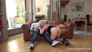 Busty Wife Victoria Summers gets interracial Throat Fuck to the Balls GP015 screenshot