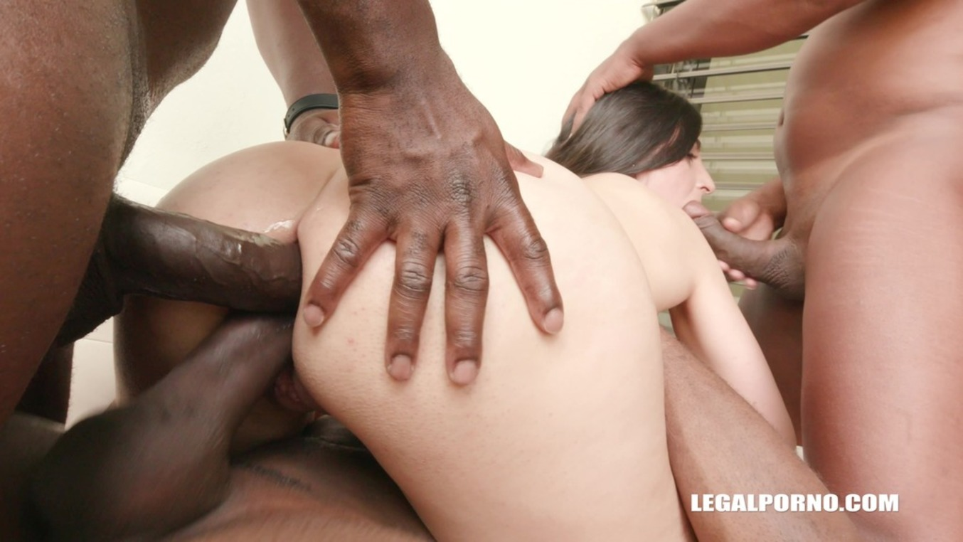 LegalPorno - Interracial Vision - Stacy Sommer decides to try anal sex, the result is double anal IV188