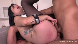 Submissive Slut Damaris Fisted, Fucked & DP'ed Balls Deep By Two Big Dicks GP060 screenshot