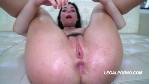 Keira Croft 2nd round Destruction 3 dicks 1 crazy chick Gapes / Creampie / Slap / Choke / Spit / ATP / ATM AA021