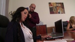 Boss Fucks His Two Secretaries Kyra Hot & Patty Michova At The Office GP108 screenshot