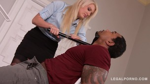 DP'ed Detective Layla Price screams & creams while black cock fucks her ass GP136 screenshot