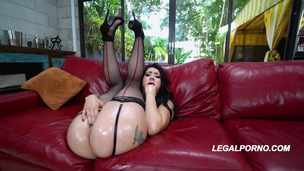 First time to LP Juicy sweet ass Mandy Muse in a beautifull DP full of gapes and balls deep action AA029 screenshot