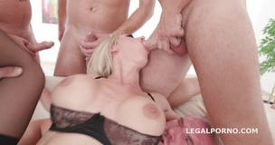 7on1 DAP gangbang Natalie Cherie gets short DP, DAP, Gapes, Airplane, TP, 7 Swallows GIO781 screenshot