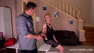 Submissive bombshell Helena Valentine dominated & ass fucked in handcuffs GP250 screenshot