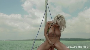 Blonde glamour hottie Christina Shine blows & rides big hard cock on yacht GP285 screenshot