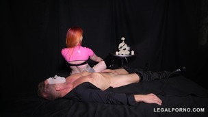 Redhead dominatrix Zara Durose gets her ass spanked & filled with sex toys GP312 screenshot