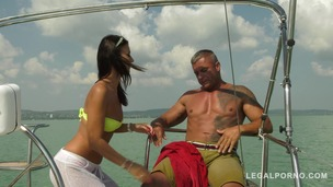 Sailor goddess Vicky Love rescues guy and rides his huge cock on the boat GP370 screenshot