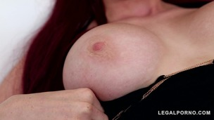 Long-haired sultry Redhead Skyla Novea needs her shaved pussy to be filled GP378 screenshot