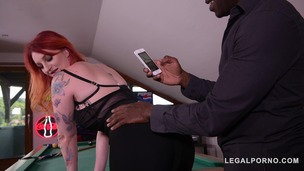 Redhead Zara Durose gets fingered & fucked by black stud's big monster cock GP426 screenshot