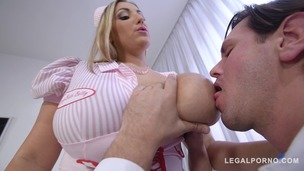 Busty nurse Krystal Swift titty fucked at the hardcore clinic by Doc's dick GP435 screenshot