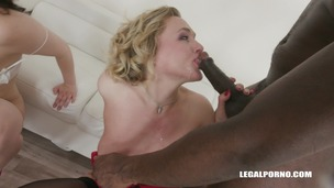 Hannah Vivienne & Liberta Black two bitches going crazy for black cock IV273 screenshot