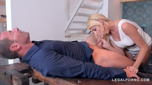 Voluptuous blonde babe Kimber Delice's foursome fantasies come true today GP477 screenshot