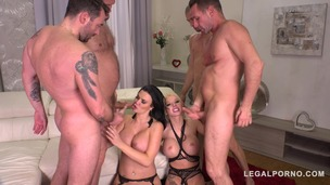 Double Anal Cum Sluts Jasmine Jae & Barbie Sins get Destroyed on Valentines FS037 screenshot