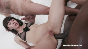 Nasty bitches Milana Love & Sasha Colibri going crazy for black cocks IV261 screenshot