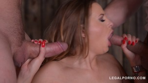 Intense balls deep double penetration makes Candy Alexa scream for more GP587 screenshot