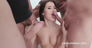 DAP and Gapes Nicole Black gets full DAP session with Balls deep, Big Gapes, ATM, Swallow GIO1019 screenshot