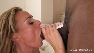 Busty Stacey Saran gets drilled by stud's black monster cock GP742 screenshot