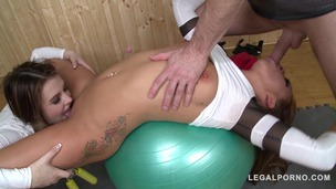 Naughty gym babes Bella Baby & Timea Bela fucked Hardcore by instructor GP803 screenshot