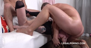 Mary Solaris 2on1 ANAL and DP with Rough Sex and Cum in Mouth GL051 screenshot