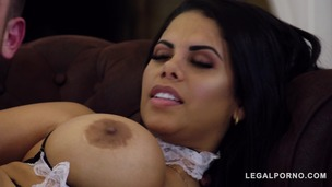 Curvy Latina maid Kesha Ortega lets boss bang her big tits and wet pink GP848 screenshot