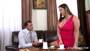 Hardcore loving busty goddess Sirale titty fucked to the XXXtreme at office GP856 screenshot