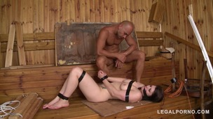 XXXtreme humiliation on the sauna bench with curvy submissive Lucia Love GP869 screenshot