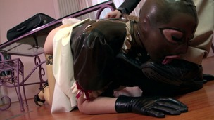 Fetish goddess Latex Lucy's creamy pussy fucked balls deep in hot threesome GP1029 screenshot