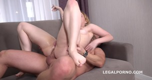 Bella Mur first DP with Rough Sex Balls Deep Anal and DP, Manhandle and Cum in Mouth GL093 screenshot