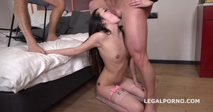 Liloo first DP with Rough Sex, Balls Deep DP, Manhandle and Cum in Mouth GL099 screenshot