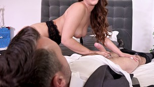 Super hot Latina Ginebra Bellucci's hairy pussy & ass fucked on Christmas GP1119 screenshot