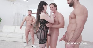 Elizabeth Fox 4on1 Balls Deep Anal, DP and Facial GIO1383 screenshot