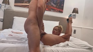 Cherry's boyfriend shoves huge dildo up her ass in a hotel room OTS030 screenshot